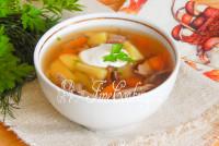 грибной суп с сушеными грибами и перловкой рецепт