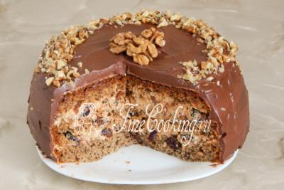 бисквитный торт с грецкими орехами и черносливом рецепт