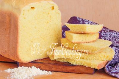 Шаг 9. Когда ароматный и солнечный кукурузный хлеб остынет, можно его резать