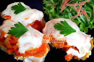 минтай с овощами со сметаной в духовке рецепт