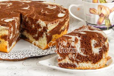 Бисквит мраморный в мультиварке рецепты с фото