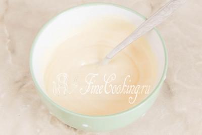 Шаг 18. Все тщательно перемешиваем - белый слой для пасхи 3 шоколада готов, пусть полностью остынет и начнет схватываться