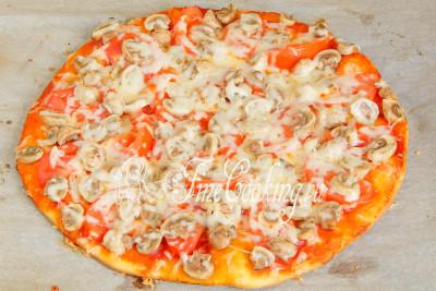 пицца с огурцами маринованными фото