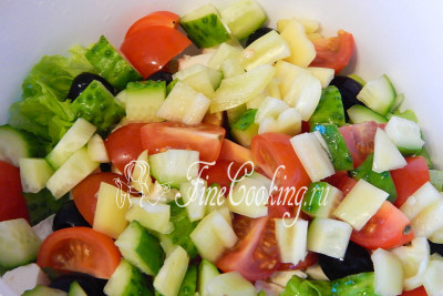 Греческий салат с помидорами черри рецепт