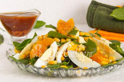 Смотреть Салат с креветками и мандаринами видео