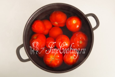 In the meantime, prepare the tomatoes