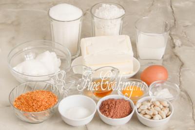 Шаг 1. Набор продуктов для приготовления торта Ленинградский относительно небольшой и вполне приемлемый по цене