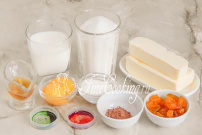 Шаг 15. Следом переходим к приготовлению крема Шарлотт и подготовке украшений для будущего торта