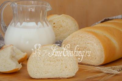 Молочный батон - рецепт пошаговый с фото