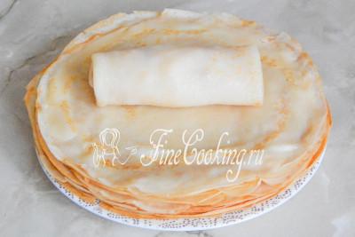Блины с ветчиной и сыром - рецепт пошаговый с фото