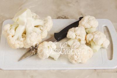 Цветную капусту для этого блюда можно взять как свежую, так и замороженную