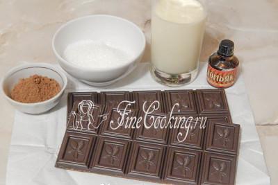 В этот рецепт вкусного и довольно быстрого десерта в домашних условиях входят следующие ингредиенты: качественный шоколад (лучше всего с содержание какао 70-80%), жирные сливки (30-33%), немного сахара (можно и не добавлять), несладкий какао-порошок