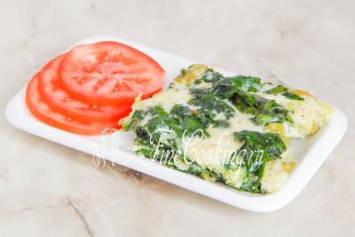 Шпинат жареный с сыром и чесноком - рецепт пошаговый с фото