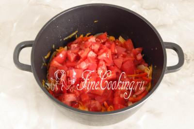 Потом переходим к томатам