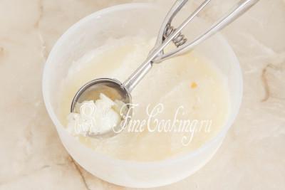 Спустя 5-7 перемешиваний лимонный сорбет будет готов