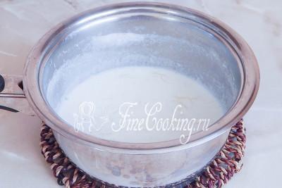 Молочный суп с вермишелью готов
