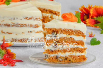 Шаг 27. А вот и разрез морковного торта