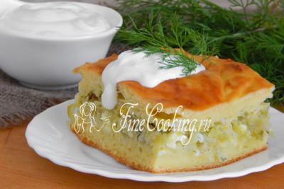 Заливной пирог с капустой в духовке - рецепт пошаговый с фото