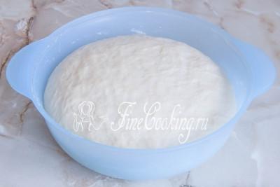 Тесто хорошо подойдет и вырастет раза в 3-4