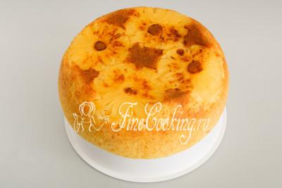 Пирог с консервированными ананасами - рецепт пошаговый с фото