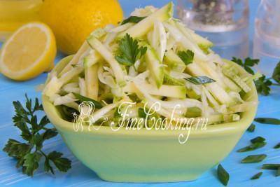 Капуста с кабачком салат на зиму 87