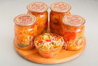Всего из указанного количества используемых ингредиентов получается чуть менее 2,5 литров вкуснейшего овощного салата Кубанский на зиму