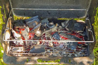 Пока мы будем заниматься свининой, нужно разжечь огонь и дождаться, пока дерево превратится в раскаленные угли