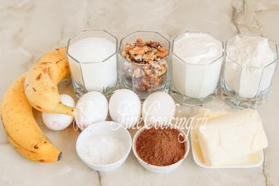 Кекс с бананом и какао в мультиварке - рецепт пошаговый с фото