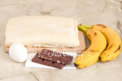 Булочки с бананом и шоколадом рецепт с фото пошагово