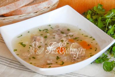 Ароматный куриный суп с рисом готовится очень просто и быстро