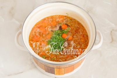 Грибной суп с маслятами варится очень быстро