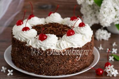 Вуаля - эффектный, праздничный и необыкновенно вкусный Шварцвальдский торт готов