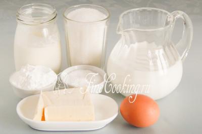 Пока охлаждается быстрое слоеное тесто, займемся приготовлением заварного крема для торта Наполеон