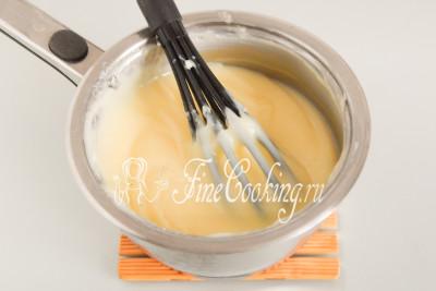 В результате получится очень вкусный, нежный, ароматный, гладкий и густой заварной масляный крем
