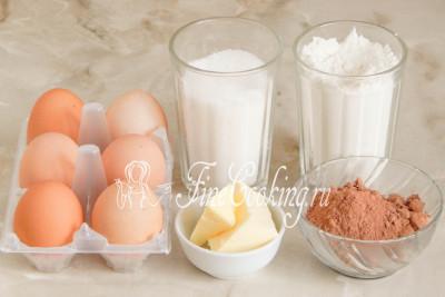 Ингредиенты для приготовления торта прага