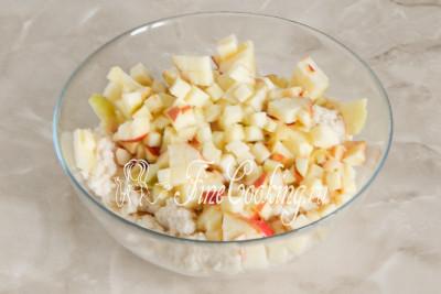 Творожное печенье с яблоками - рецепт пошаговый с фото