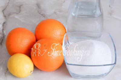 Готовить варенье из апельсиновых корок Завитки мы будем из таких ингредиентов: апельсины (только корки), сахарный песок, вода и сок лимона (можно заменить лимонной кислотой)