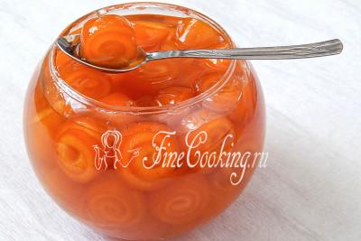 Варенье из апельсиновых корок готово – посмотрите, какие милые завитушки!