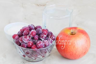 Компот из вишни и яблок - рецепт пошаговый с фото