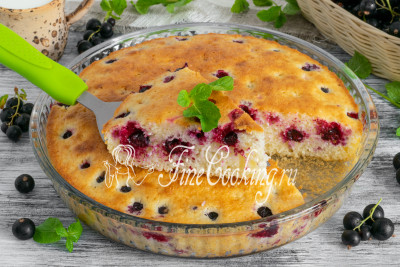 Манник с ягодами ежевики в мультиварке - рецепт пошаговый с фото