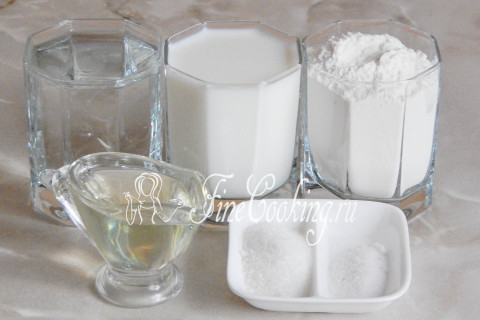 Блины на молоке и воде. Шаг 1