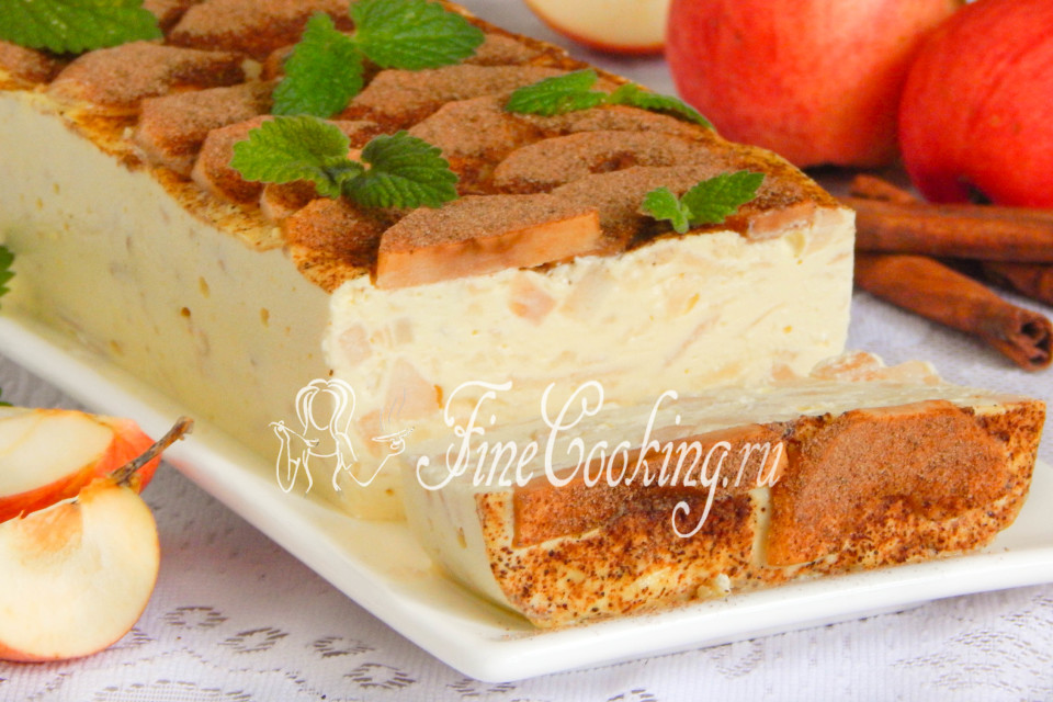 Блюда из творога и яблок