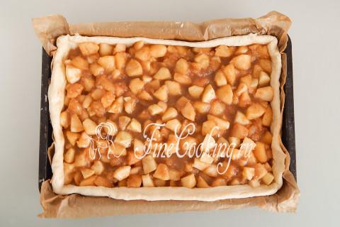 Дрожжевой яблочный пирог. Шаг 19
