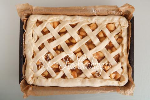 Дрожжевой яблочный пирог. Шаг 22