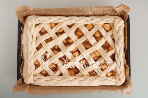Дрожжевой яблочный пирог. Шаг 23