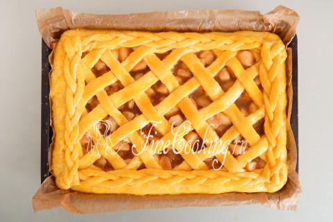 Дрожжевой яблочный пирог. Шаг 24