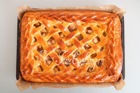 Дрожжевой яблочный пирог. Шаг 25