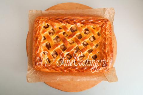 Дрожжевой яблочный пирог. Шаг 26