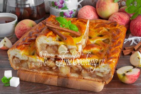 Дрожжевой яблочный пирог. Шаг 27