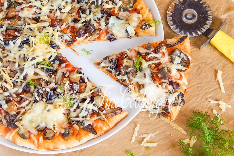 как приготовить грибная пицца